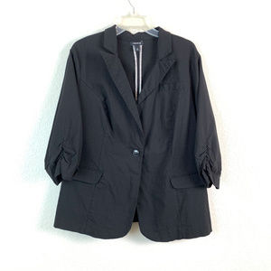 Torrid women size 3 black 3/4 sleeve blazer jacket